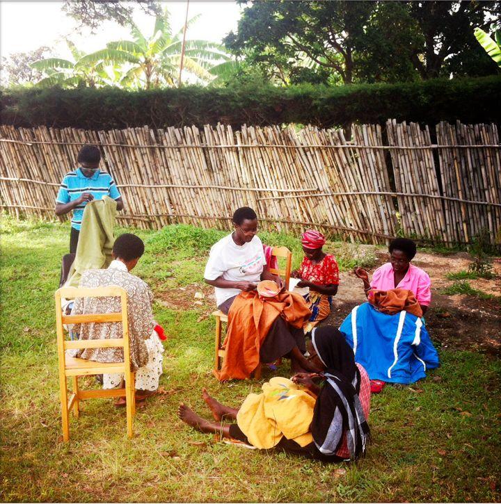 women's from Ibaba rwanda working in the garden