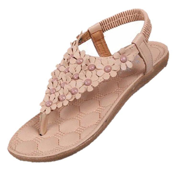 $7.24 (Buy here: https://alitems.com/g/1e8d114494ebda23ff8b16525dc3e8/?i=5&ulp=https%3A%2F%2Fwww.aliexpress.com%2Fitem%2FTEXU-Hotsales-Summer-Women-Sandals-Fashion-Bohemia-Women-s-Shoes-Flower-Sandalias-Femininas-Casual-Thong-Flats%2F32635472180.html ) Beige 2016 New Sandalias Soft Leather Sloe Flat Sandals Flower Decoration Women Flip Flop Beach Sandal Wholesale Lady Shoes for just $7.24