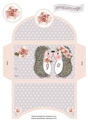 Love and Cherish Wedding Money Wallet on Craftsuprint designed by Janet Roberts - This cute money wallet goes with my 'Love and Cherish' shaped card kit ..... see the link below - Now available for download!
