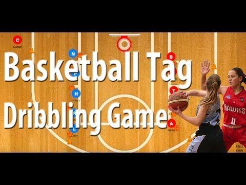 Dribble Tag Game Basketball Dribbling Drill | Fun Basketball Games For Kids - YouTube