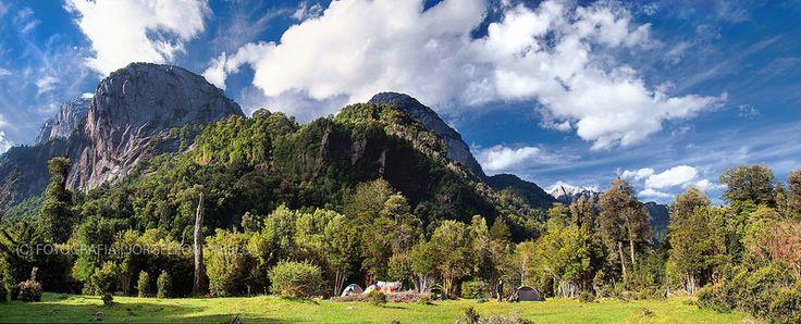 Panoramica Vista Bonita - Valle de Cochamo (Patagonia - Chile)