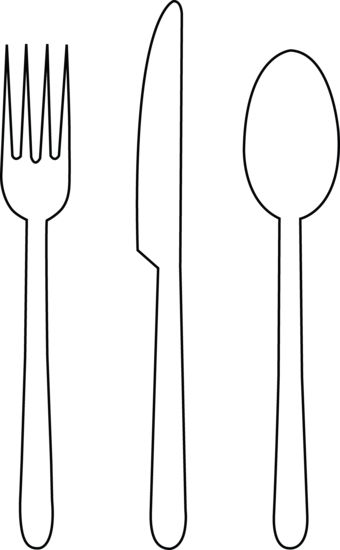 Tableware Line Art