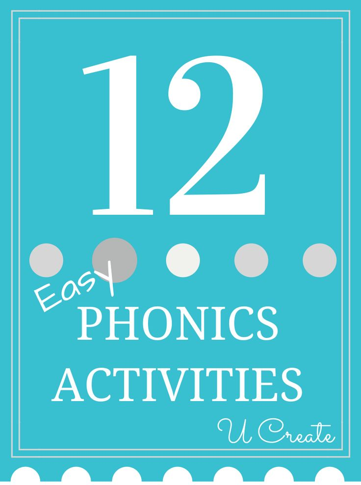 12 Early Education Phonics Activities - Ucreate with Kids