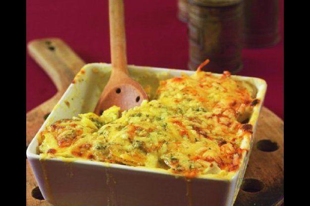 Celerovo-bramborový gratin