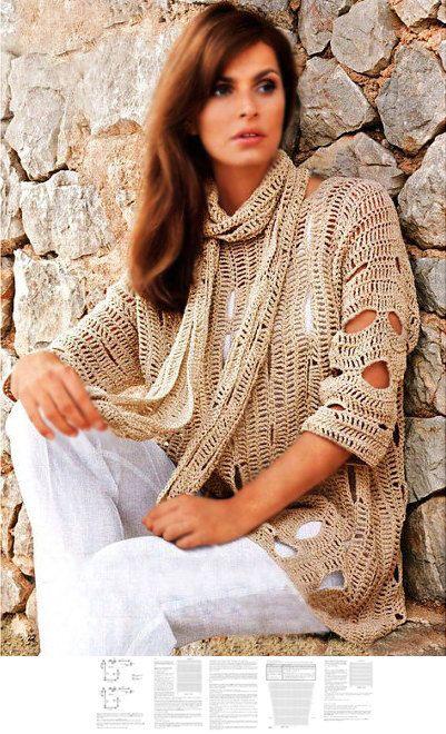 Crochet tunic PATTERN