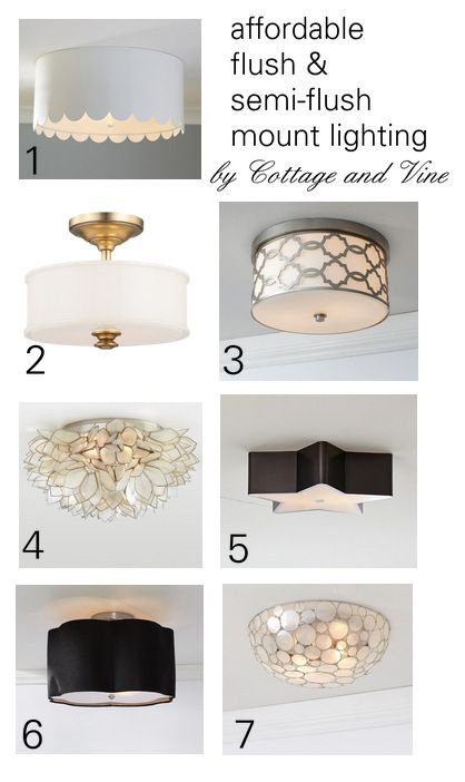 COTTAGE AND VINE: Budget Friendly Flush Mount Lighting