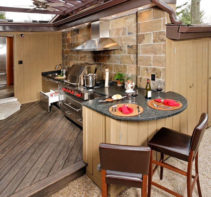 157 best Outdoor Kitchens images on Pinterest Barbecue grill - outside kitchen ideas