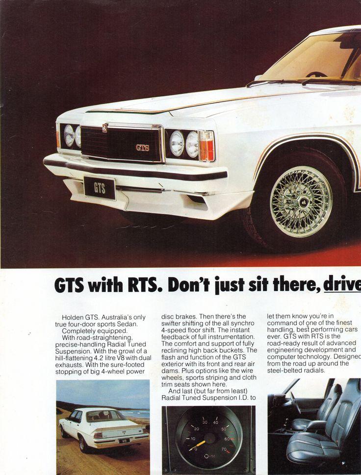 https://flic.kr/p/V1iCP3 | 1978 HZ Holden GTS Sedan Page 2 Aussie Original Magazine Advertisement