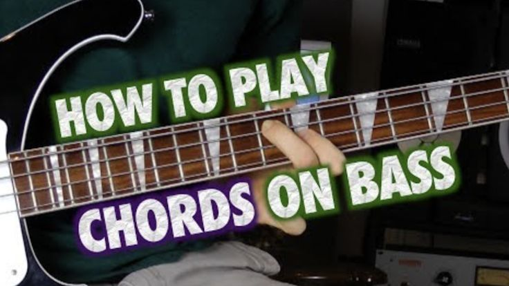 """Learn Something: How to Play Chords on Bass Guitar Guitar instructor Sean Daniel presented a neat video explaining how to approach playing chords on a bass guitar. """"There's a lot of iconic bass lines played with chords. They're usually played in the higher register. """"The reason for that is that if you ... #bassguitar"""