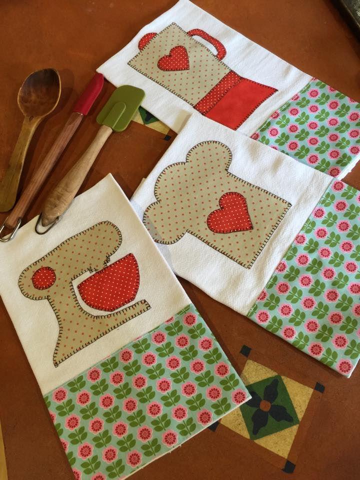 Panos de Prato feitos pela artesã Lisiane Hoyos com Fabricart Tecidos