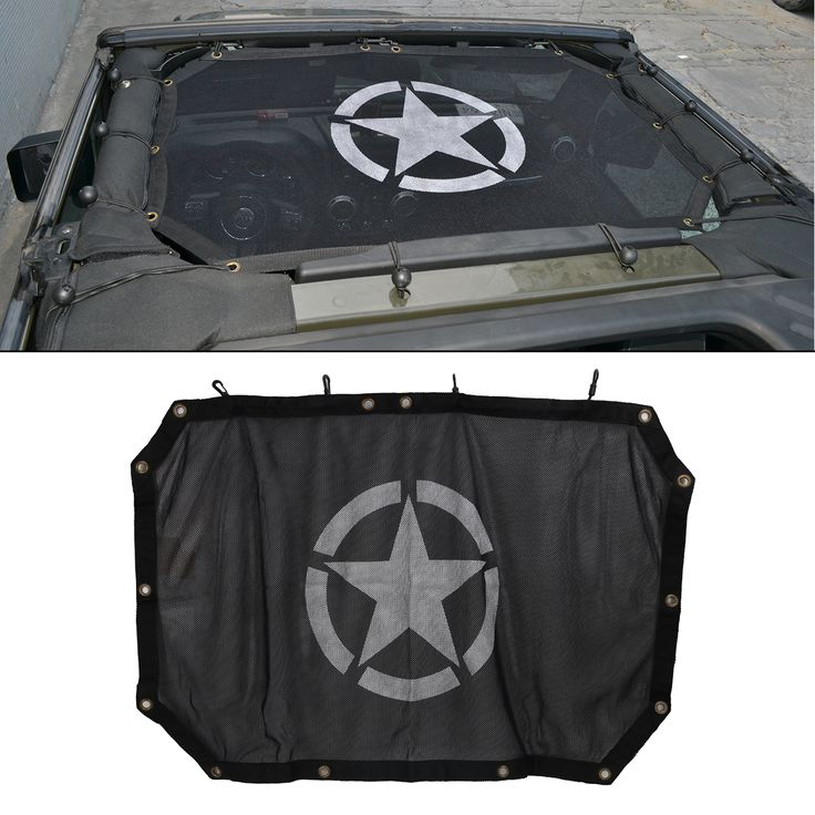 Car Sunroof Cover Military Army Star Eclipse Sun Shade Top Covers For Jeep Wrangler JK 2/4 door 2007-2017 CE045 #Affiliate