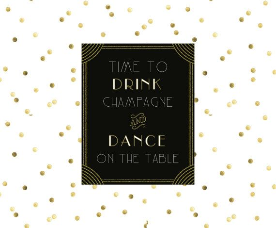 Art Deco Wedding Decor // DIY Printable, Wedding Sign, Party Decor, Gatsby Decor, Wedding Decor