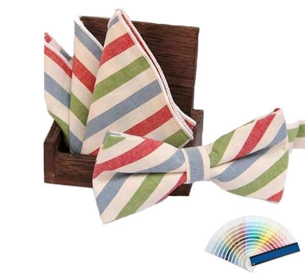 Colourful Stripe Bow Ties