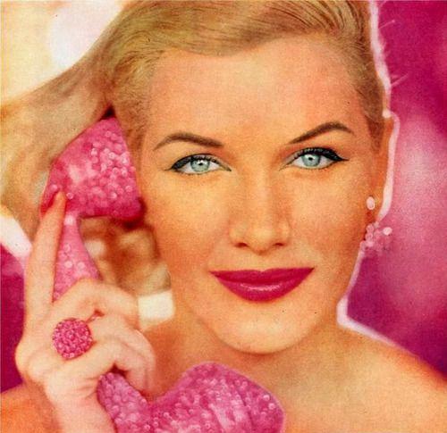 vintage hair & makeup 1956    model Sunny HarnettHarnett 1956, Pink Glam, Vintage Hair, Vintage Wardrobe, Models Sunny, Pink Mad, Hair Makeup, 1956 Sunny Harnett, 1956 Models