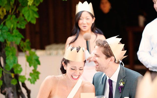 Как сделать бумажные короны для свадебной фотосессии