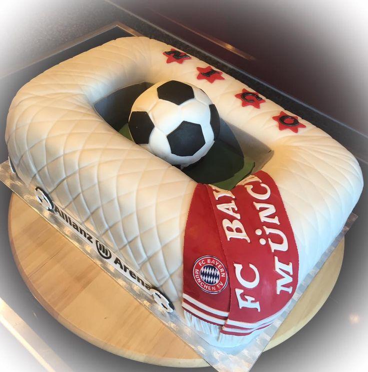 Bayer-München Torte Allianz-Arena Torte Bayern-München Cake Allianz-Arena Cake