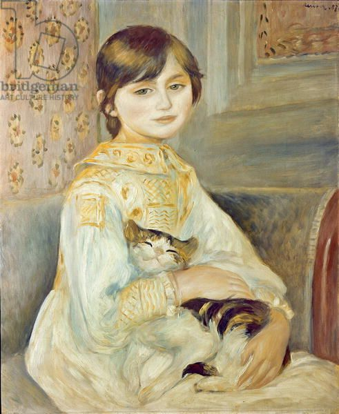 Julie Manet with Cat, 1887 (oil on canvas)