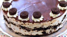 Μια εύκολη συνταγή για ένα υπέροχο, cheesecake με μπισκότα όρεο χωρίς ψήσιμο. Ένα λαχταριστό γλύκισμα που απαιτεί περίπου 30 λ από το χρόνο σας και ... πολ