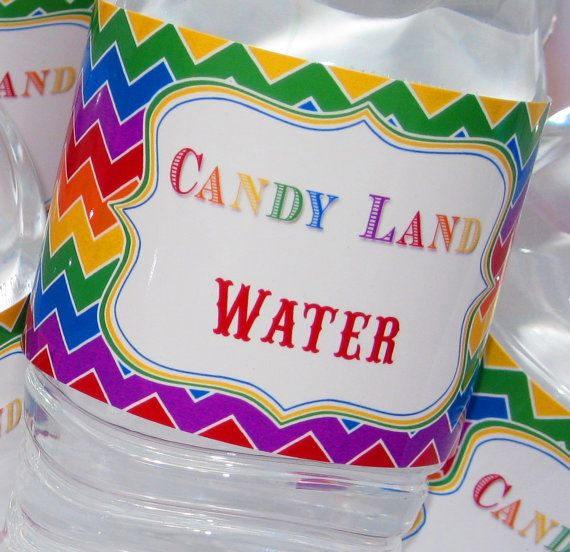 Candy Land Party  Printable Custom Water by FabulousPartyDesigns, $5.00