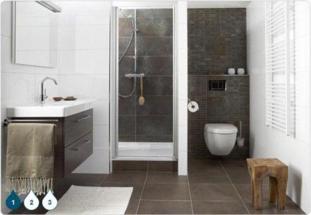25 beste idee n over kleine badkamer indeling op pinterest moderne kleine badkamers kleine - Meuble sdb ontwerpen ...