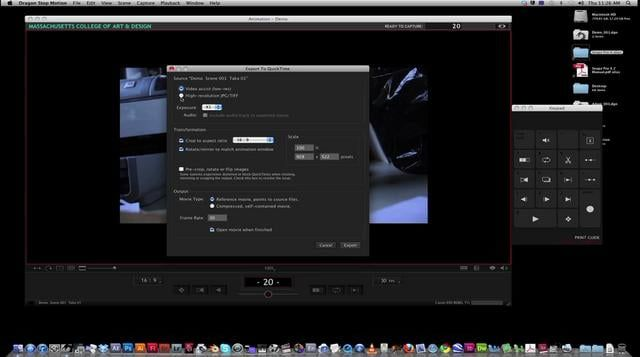 Exporting Quicktime Files from Dragon Stop Motion