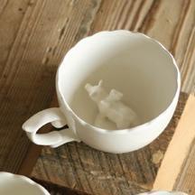 Porcelain Flying Pig Cup