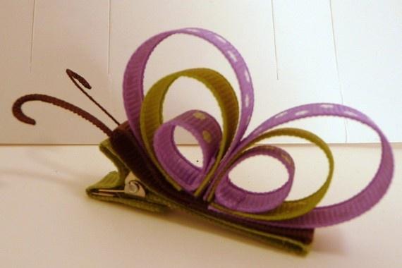 cute butterfly hair clip DIY idea