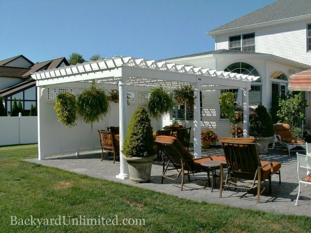 26 best pergolas images on pinterest | backyard ideas, outdoor ... - Patio Lattice Ideas