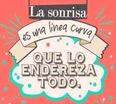 Sonrisa. Felicidad. Frases en español