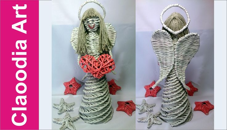 How to make an angel from a paper wicker