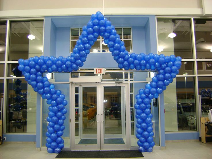 Stage Or Entrance Star Shape Balloon Arch Balloon Arch