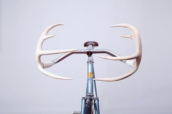 aluminum alloy bullhorn antler fiber road bicycle handle bars track fixie Fixed Gear handlebars