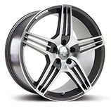 "RIVA MAG in Gun Metal Grey Specification: Size: 18"" x Width:8.5J Fitment: 5 stud only  PRICE, SET OF 4 £432"