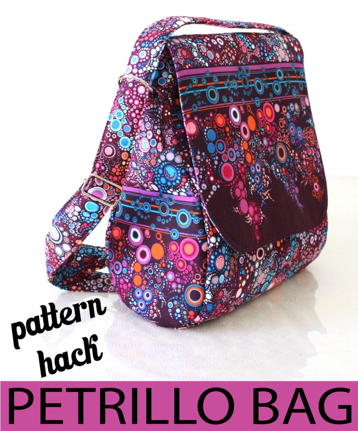 Sew Sweetness Petrillo Bag pattern hack/ turn a bag into a backpack. Good instruction for straps and hardware.