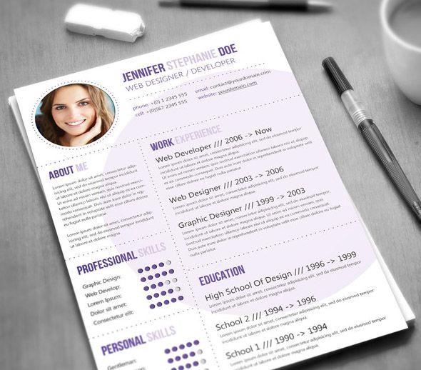 21 Stunning Creative Resume Templates  *i really like the first few