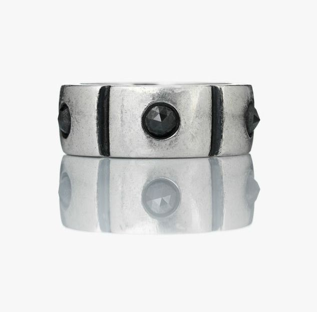 Ring for men with Black diamant