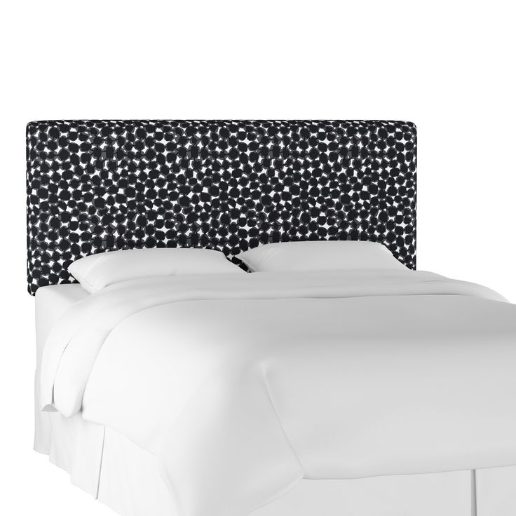 Upholstered Headboard Queen Abstract Dot Black - Project 62™️ | Friday Favs | Bold Headboards | Garrison Street Design Studio | Headboard Ideas | Upholstered Headboard | Leather Headboard | Fabric Headboard | Cheap Headboards | Queen | Unique | Easy | Colorful | Black & White Headboard | Teal Headboard | Wicker Headboard | Green Headboard | Pink Headboard | Orange Headboard | Creative | DIY | Bedroom Decor | Kids | Modern | Padded | Makeover | Velvet | Affordable | Affiliate Link