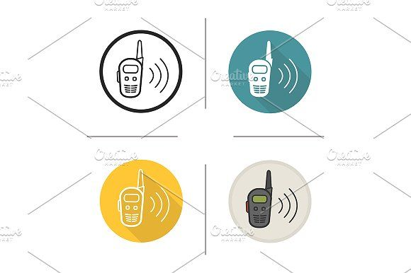 Walkie Talkie 4 Icons Vector Technology Icon Icon Design Business Illustration
