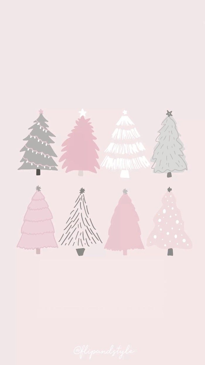 Beautiful Pale Green Bedrooms: Beautiful Pale Pink & Green Christmas Tree Graphic Print