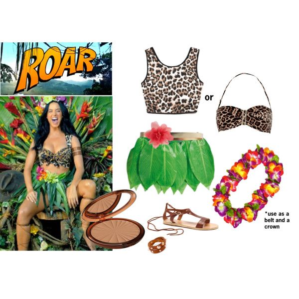 """""""Katy Perry Roar Halloween Costume"""" - change the top to a tank top to be more age appropriate for little girls."""