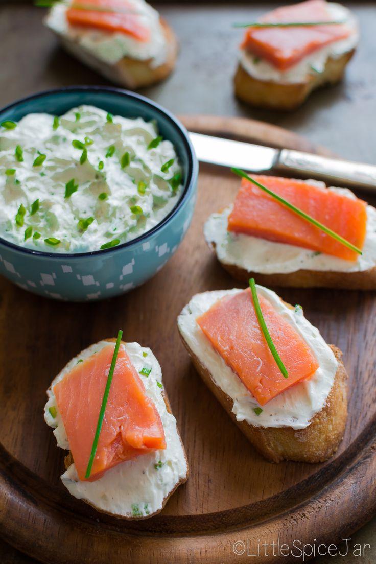 Smoked salmon goat cheese bruschetta | Recipe | Recipies ...