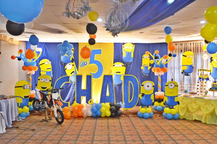 10 best minions birthday theme images on pinterest 5th for 5th birthday decoration ideas