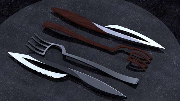 Weaponized Food Utensils Cutlery Design Cutlery Set