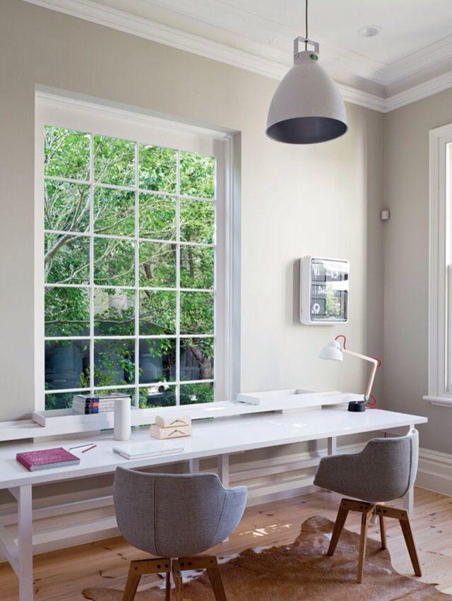 vogue living | hecker guthrie | natural light | long narrow workspace