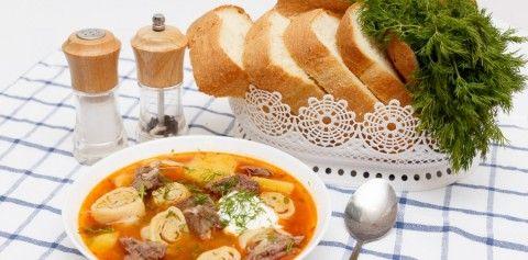 Немецкий суп с штрулями.