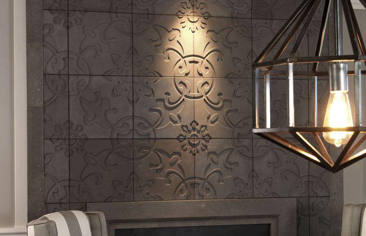 3D concrete wall tile: geometric pattern - JAPANESE GEO - Daniel Ogassian