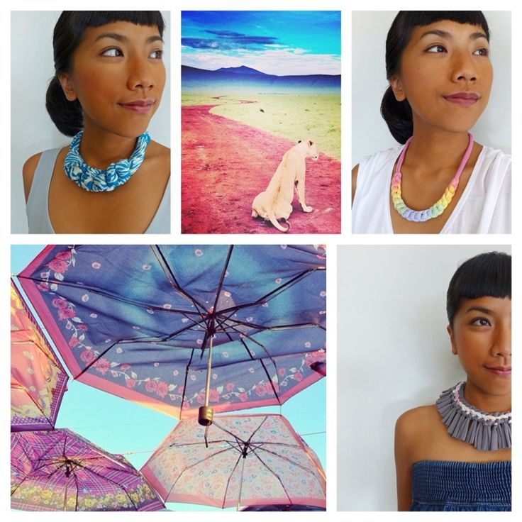 These handmade collection has original and eco-friendly feels that make it easy for us to be ecologically responsible, fashionable, and stylish, with an individualist twist.  All the fabric statement necklace is so colorful and perfect for the summer! They are a fun piece that will be loved for a long time!
