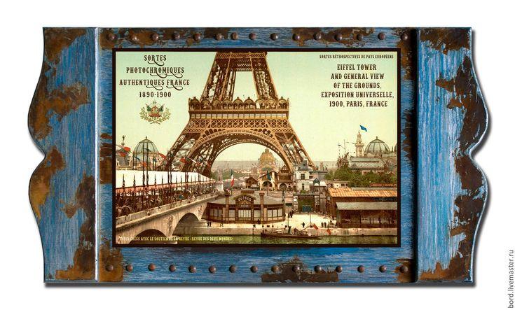 """Купить Панно """"Страницы синей книги"""". Франция 007 - панно для интерьера, панно, лофт, прованс"""