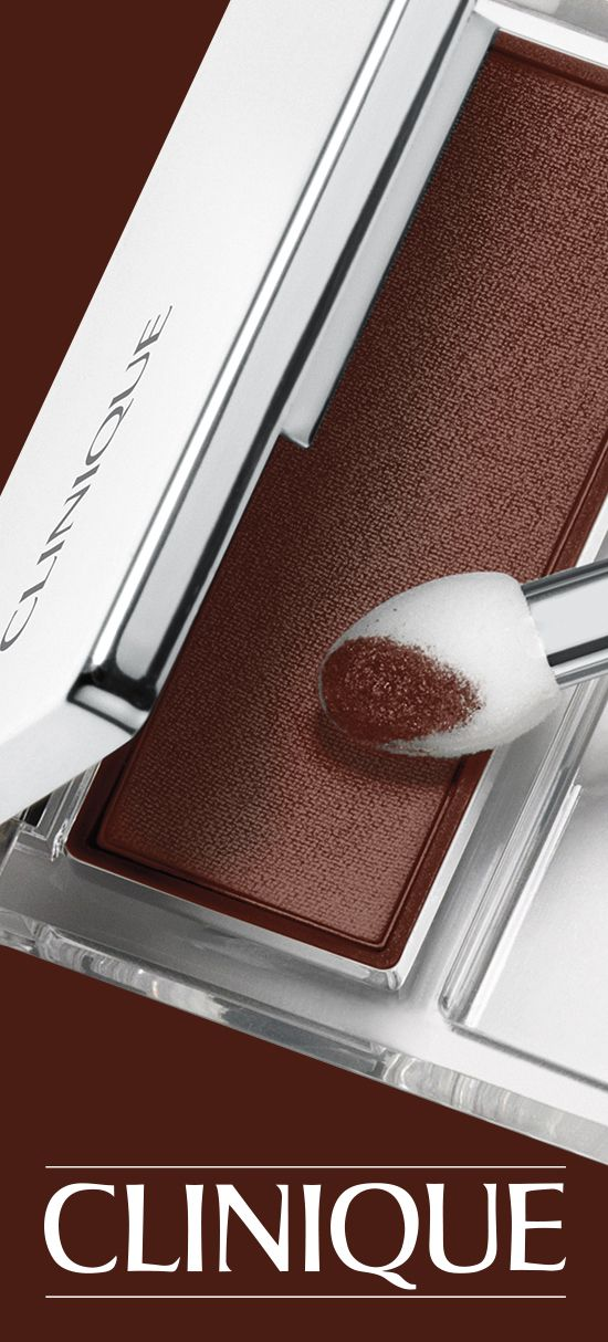 Go for a bold eye look with Clinique All About Shadow in Black Honey.
