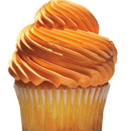 Pumpkin or banana muffin topped with plain greek yogurt with orange  food coloring..Gotta love the Favao mindset :))